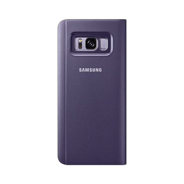 Galaxy S8 Clear View Standing Cover Violet retro