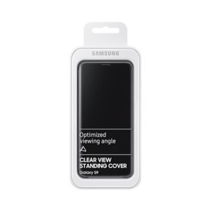 Samsung Galaxy S9 Clear View Standing Cover Black confezione