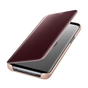Samsung Galaxy S9 Clear View Standing Cover Gold custodia