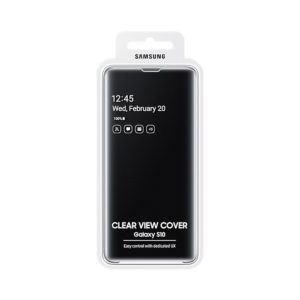 Samsung Galaxy S10 Clear View Cover Black confezione