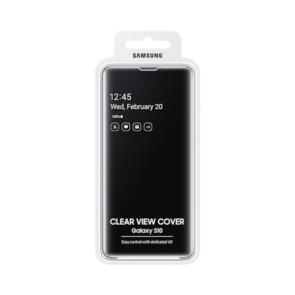 Samsung Galaxy S10 Clear View Cover Black confezione