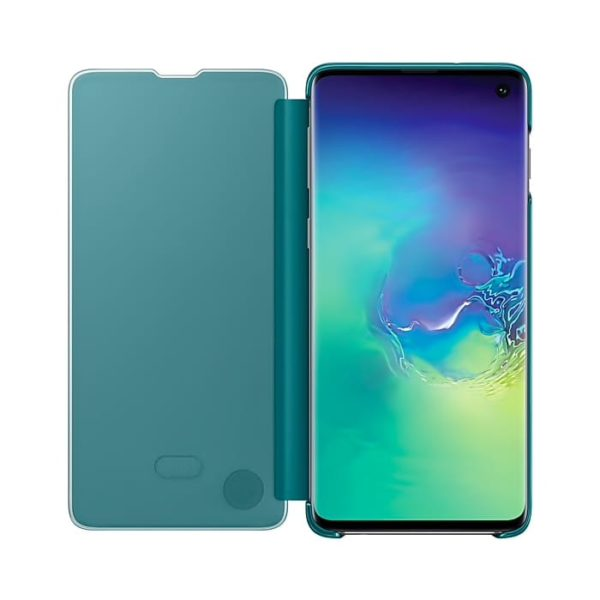 Samsung Galaxy S10 Clear View Cover Green custodia