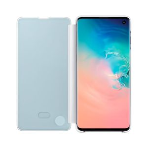 Samsung Galaxy S10 Clear View Cover White custodia