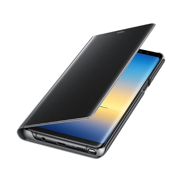 Samsung Galaxy Note 8 Clear View Standing Cover Black apertura