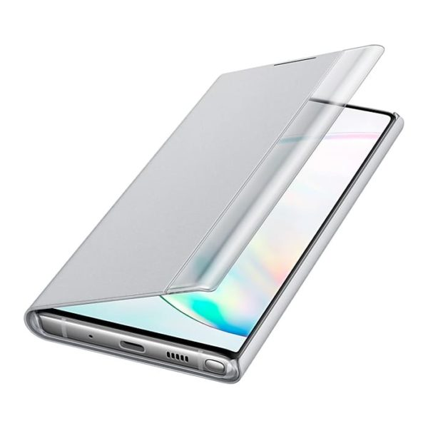 Samsung Galaxy Note10 Clear View Cover Silver custodia