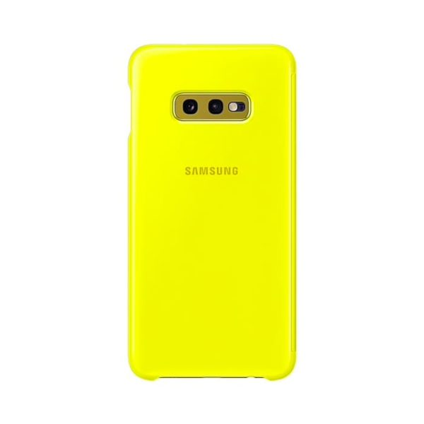 Samsung Galaxy S10e Clear View Cover Yellow retro