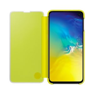 Samsung Galaxy S10e Clear View Cover Yellow custodia