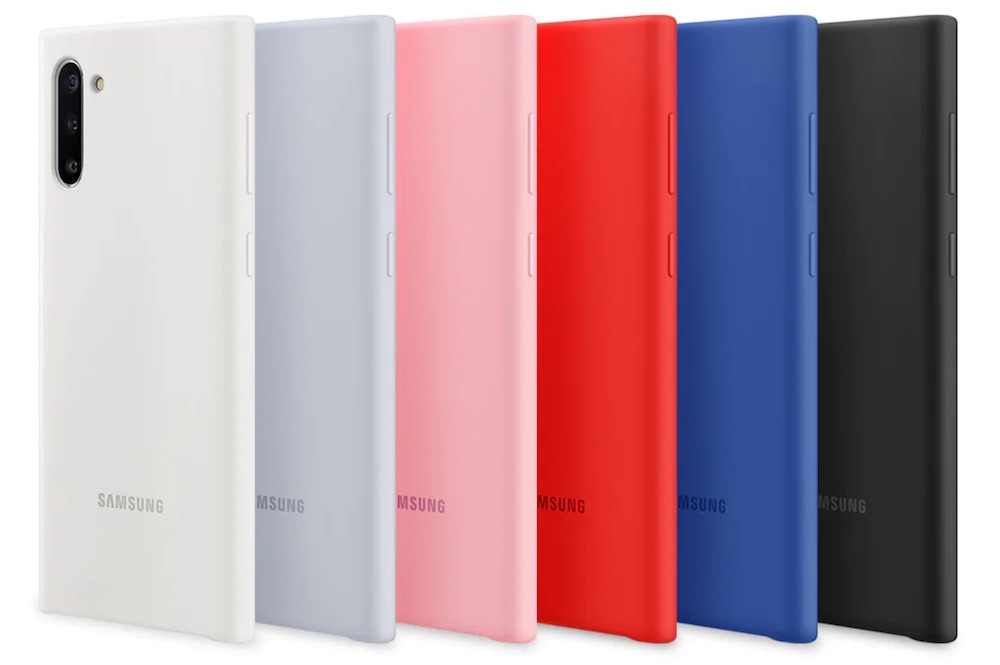 cover silicone samsung galaxy note 10 colori