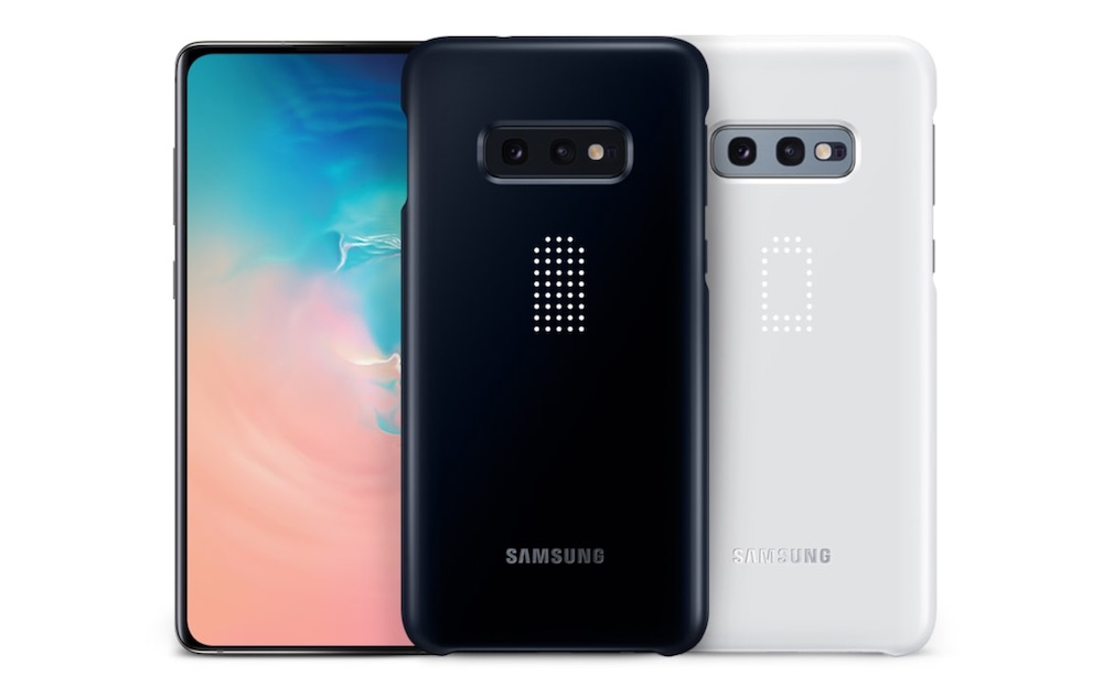 led cover samsung galaxy s10e colori