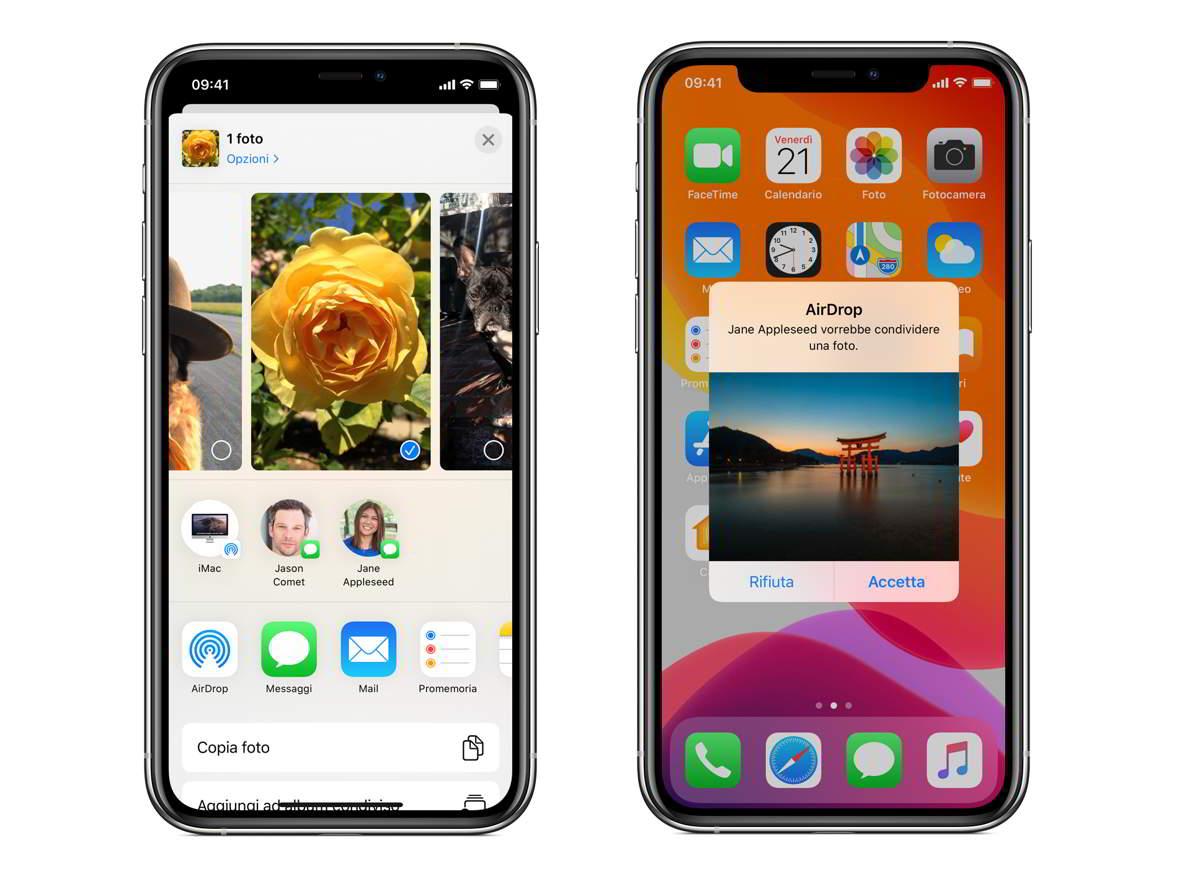 collegare smartphone a pc con airdrop