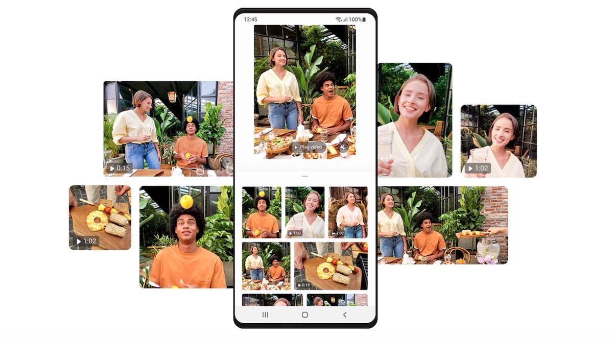 gestione contenuti multimediali samsung one ui