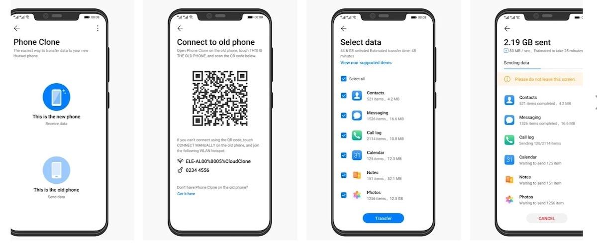 trasferimento dati android phone clone