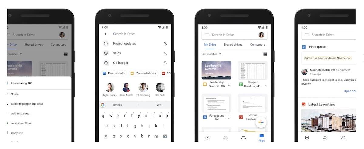 trasferimento file android google drive