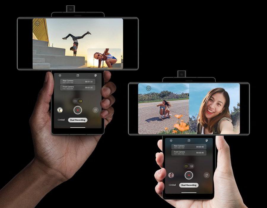 lg wing dual recording smartphone